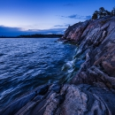 Cliffs by the evening sea, Porkkala, Finland, 2017