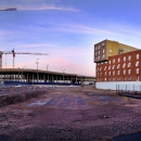 Construction site in the evening, Helsinki, Finland, 2015