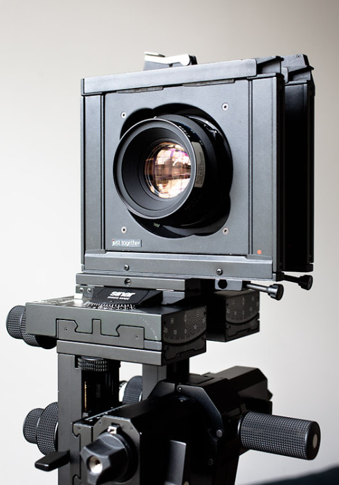 Mamiya RZ lens attached with the justTogether adapter to my Sinar P2