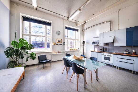 Kitchen of the Suvilahti studio