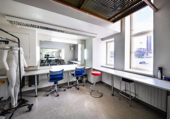 Makeup room of the Suvilahti studio